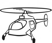 Coloriage Hélicoptère en volant