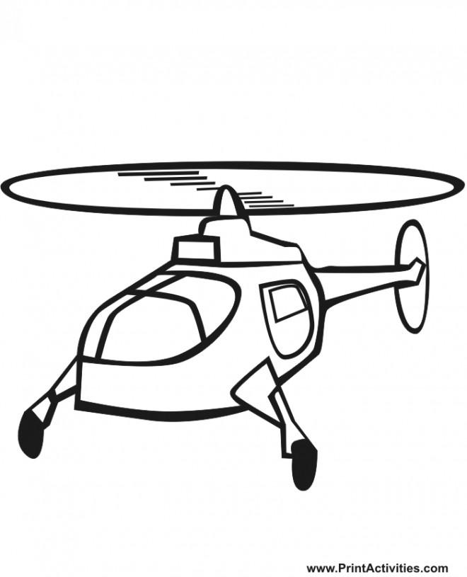Coloriage et dessins gratuits Hélicoptère en volant à imprimer