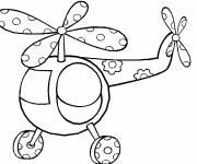 Coloriage et dessins gratuit Hélicoptère magique facile à imprimer