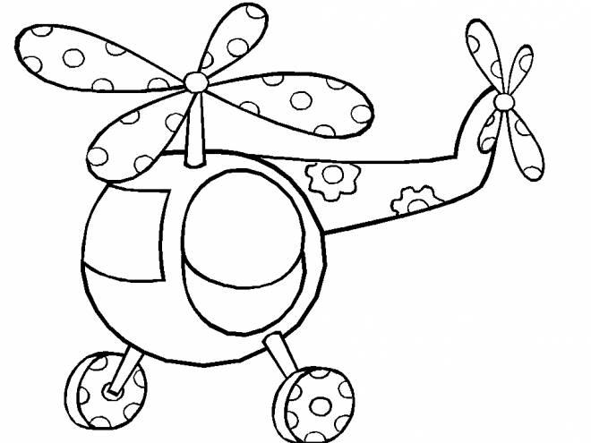 Coloriage et dessins gratuits Hélicoptère magique facile à imprimer