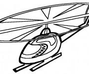 Coloriage et dessins gratuit Hélicoptère maternelle à imprimer