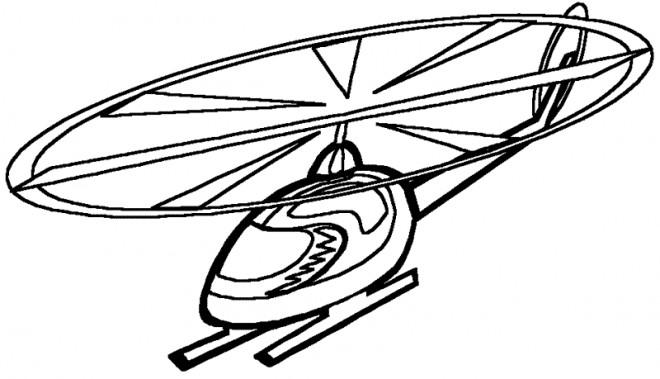 Coloriage et dessins gratuits Hélicoptère maternelle à imprimer