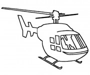 Coloriage Helicoptere