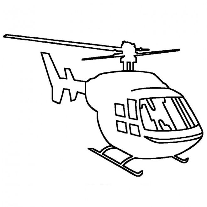 Coloriage et dessins gratuits Hélicoptère militaire à imprimer