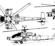 Coloriage Hélicoptère militaire Apache