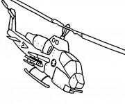 Coloriage Hélicoptère militaire Cobra