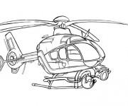 Coloriage Hélicoptère militaire de surveillance