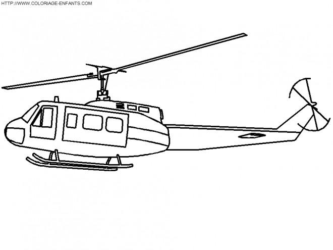 Coloriage et dessins gratuits Hélicoptère militaire en vol à imprimer