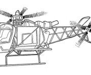Coloriage Hélicoptère police