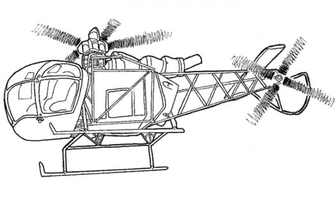 Coloriage Hélicoptère Police Dessin Gratuit à Imprimer