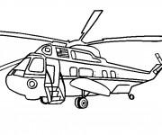 Coloriage Hélicoptère présidentiel