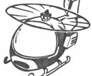 Coloriage Hélicoptère réaliste en vol