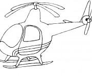 Coloriage et dessins gratuit Hélicoptère simple à imprimer