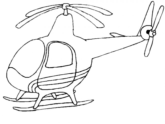 Coloriage et dessins gratuits Hélicoptère simple à imprimer