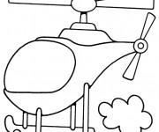 Coloriage et dessins gratuit Hélicoptère simplifié à imprimer