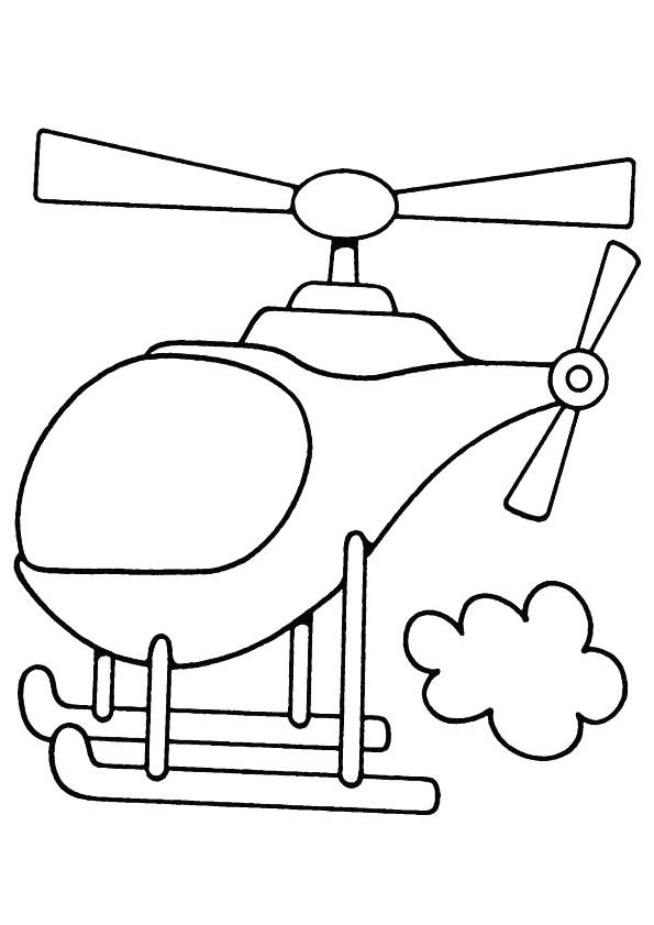 Coloriage et dessins gratuits Hélicoptère simplifié à imprimer