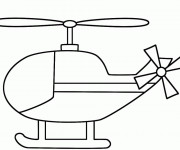 Coloriage et dessins gratuit Hélicoptère stylisé à imprimer