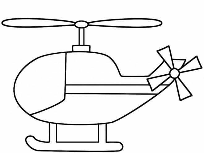 Coloriage et dessins gratuits Hélicoptère stylisé à imprimer