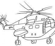 Coloriage Hélicoptère stylisé qui vole