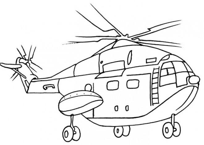 Coloriage et dessins gratuits Hélicoptère stylisé qui vole à imprimer