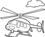 Coloriage et dessins gratuit Hélicoptère transport aérien à imprimer