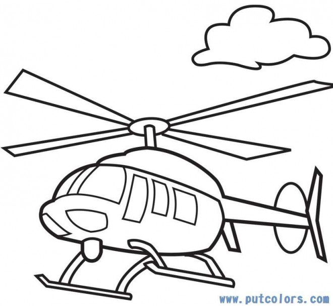 Coloriage Helicoptere Transport Aerien