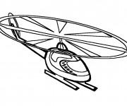 Coloriage et dessins gratuit Helicoptere vecteur à imprimer
