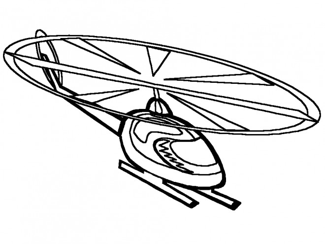 Coloriage et dessins gratuits Helicoptere vecteur à imprimer
