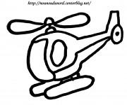 Coloriage et dessins gratuit Hélicoptère vectoriel à imprimer