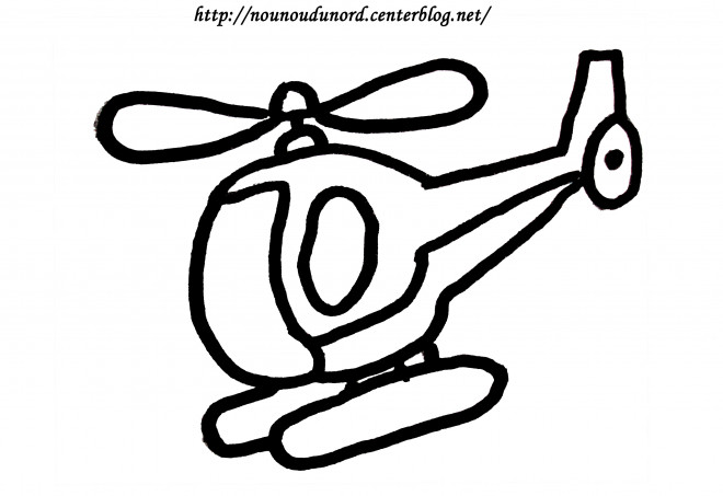 Coloriage Helicoptere Vectoriel Dessin Gratuit A Imprimer