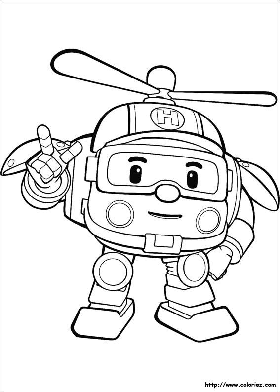 Coloriage et dessins gratuits Hélicoptère vectoriel pour enfant à imprimer
