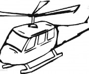 Coloriage Illustrations Hélicoptère