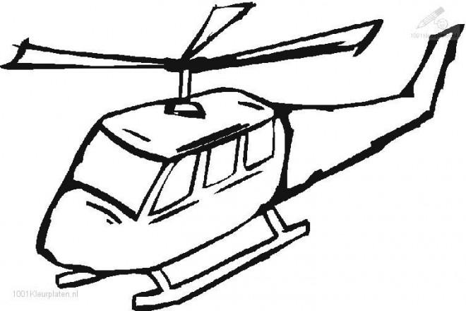 Coloriage et dessins gratuits Illustrations Hélicoptère à imprimer