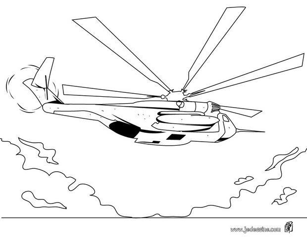 Coloriage et dessins gratuits Image de Hélicoptère de guerre à imprimer