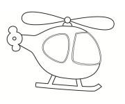 Coloriage Mini Hélicoptère Disney