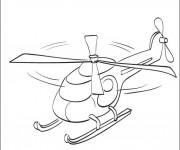 Coloriage Petit Hélicoptère jouet