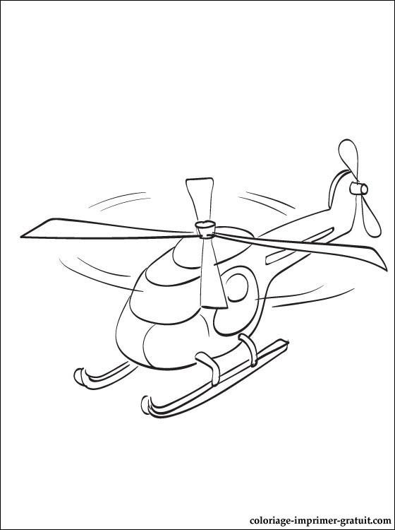 Coloriage et dessins gratuits Petit Hélicoptère jouet à imprimer