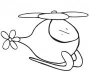 Coloriage un Hélicoptère magique pour les petits