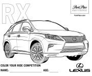 Coloriage Auto Lexus RX