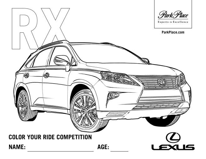 Coloriage et dessins gratuits Auto Lexus RX à imprimer