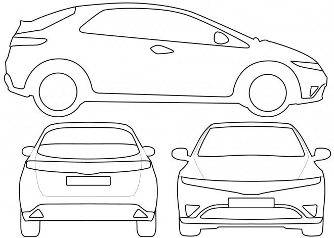 Coloriage et dessins gratuits Honda à découper à imprimer