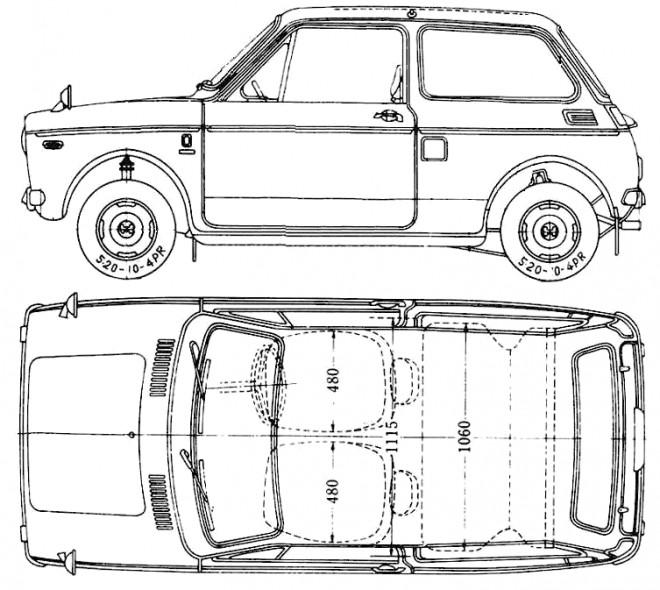 Coloriage et dessins gratuits Honda ancien modéle à imprimer