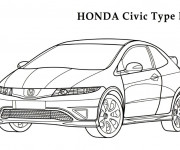 Coloriage Honda Civic R