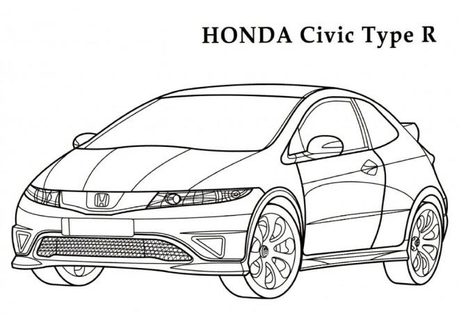 Coloriage et dessins gratuits Honda Civic R à imprimer