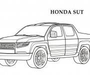 Coloriage Honda Sut Pick Up