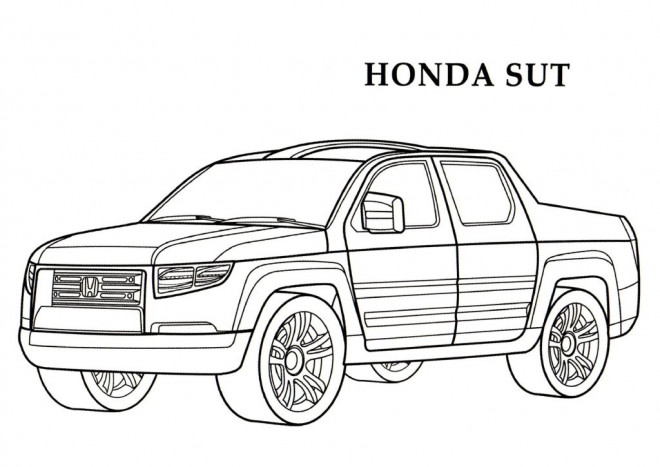 Coloriage et dessins gratuits Honda Sut Pick Up à imprimer