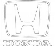 Coloriage et dessins gratuit Logo Honda à imprimer