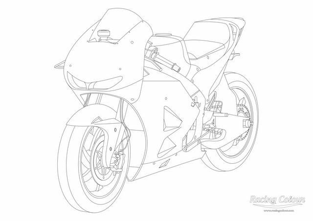 Coloriage moto de course honda colorier dessin gratuit imprimer - Dessins de moto a colorier et imprimer ...