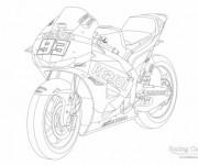 Coloriage Moto Honda