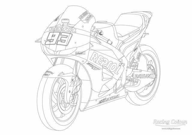 Coloriage moto honda dessin gratuit imprimer - Dessins de moto a colorier et imprimer ...